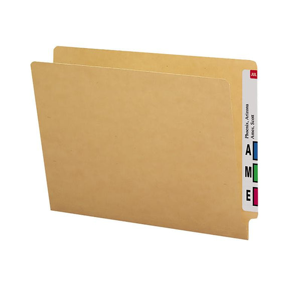 Smead End Tab Folder, Straight-Cut Tab, Letter Size, Kraft, 50 per Box (24400)