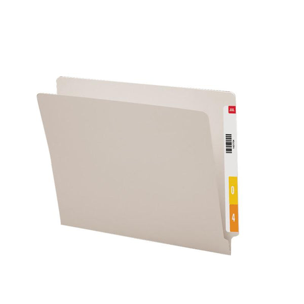 Smead Colored End Tab File Folder, Shelf-Master® Reinforced Straight-Cut Tab, Letter Size, Gray, 100 per Box (25310)