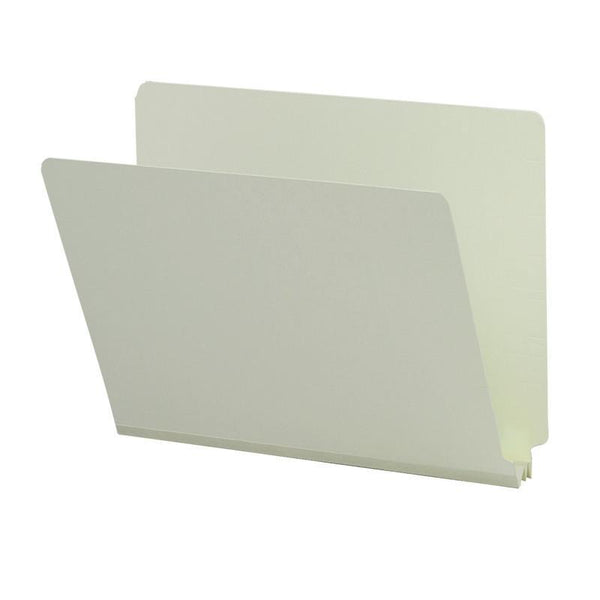 "Smead End Tab Pressboard File Folder, Straight-Cut Tab, 2"" Expansion, Letter Size, Gray/Green, 25 per Box (26210)"