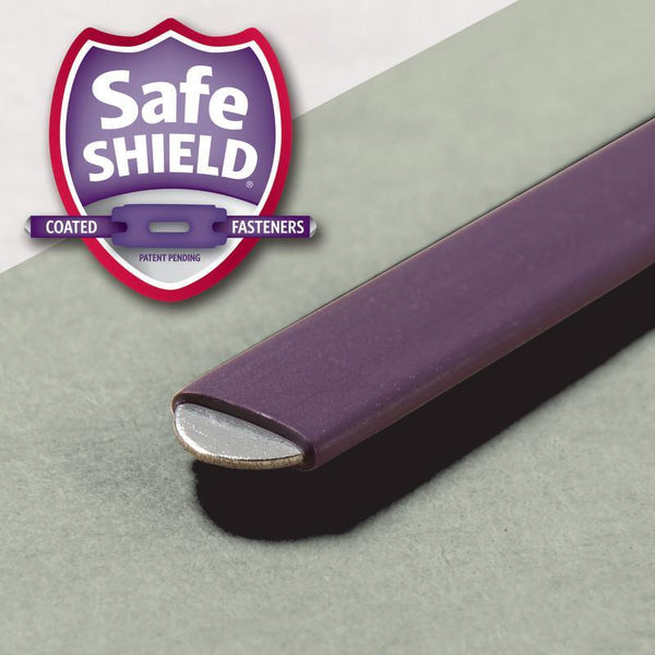 Smead End Tab Pressboard Classification Folder with SafeSHIELD® Fasteners, 3 Dividers, Letter, Gray/Green (26820)