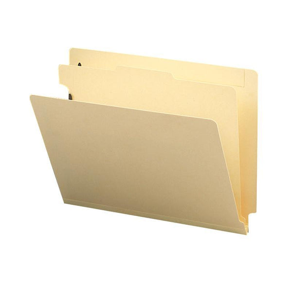 "Smead End Tab Classification File Folder, 1 Divider, 2"" Expansion, Letter Size, Manila, 10 per Box (26825)"