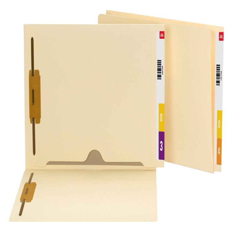 Smead End Tab Fastener File Folder with Full Pocket, Reinforced Straight-Cut Extended Tab, 2 Fasteners, Letter Size, Manila, 50 per Box (34101)