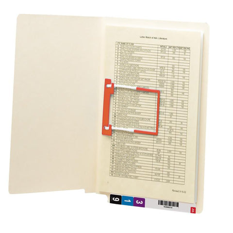 Smead End Tab Fastener File Folder, Shelf-Master® Reinforced Straight-Cut Tab, 1 Fastener, Letter Size, Manila, 50 per Box (34112)