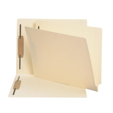 Smead End Tab Fastener File Folder, Shelf-Master® Reinforced Straight-Cut Tab, 2 Fasteners, Letter Size, Manila, 250 per Box (34125)
