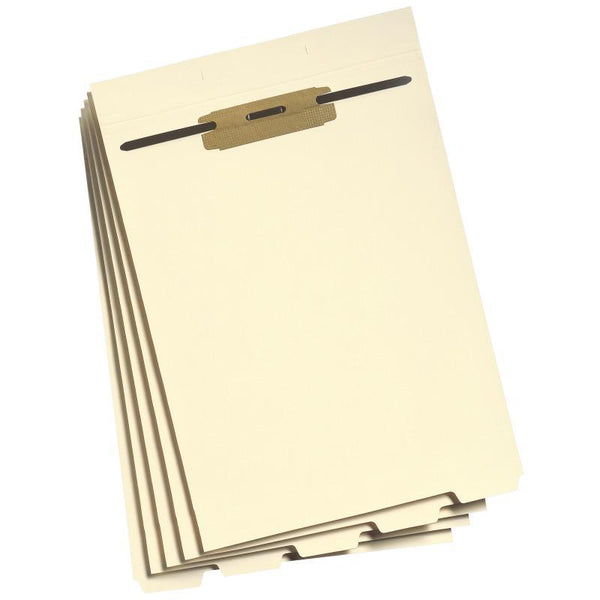 Smead Folder Divider with Fastener, Bottom 1/5-Cut Tab, Letter Size, Manila, 50 per Pack (35600)