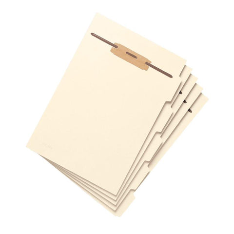Smead Folder Divider with Fastener, Side 1/5-Cut Tab, Letter Size, Manila, 50 per Pack (35605)