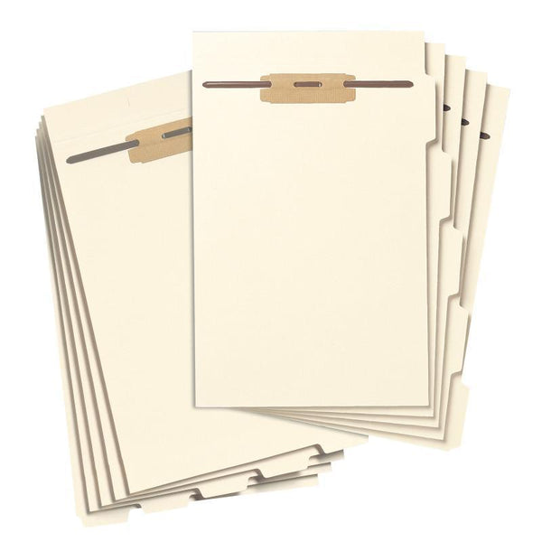 Smead Folder Dividers with Fastener, Bottom 1/5-Cut Tab, Legal Size, Manila, 50 per Pack (35650)