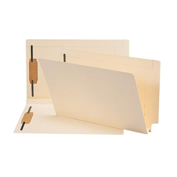 Smead End Tab Fastener File Folder, Shelf-Master® Reinforced Straight-Cut Tab, 2 Fasteners, Legal Size, Manila, 50 per Box (37276)