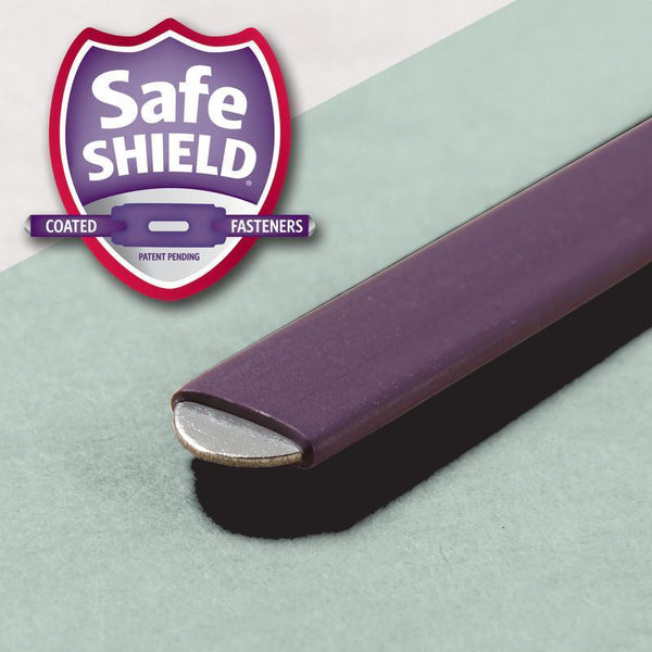Smead End Tab Pressboard Fastener Folder with SafeSHIELD® Fastener, 2 Fasteners, Legal, Gray/Green (37725)