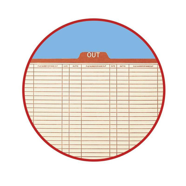 Smead Out Guide Printed Forma Style, 1/5-Cut Tab Center Position, Guide Height, Letter Size, Manila, 100 per Box (51910)