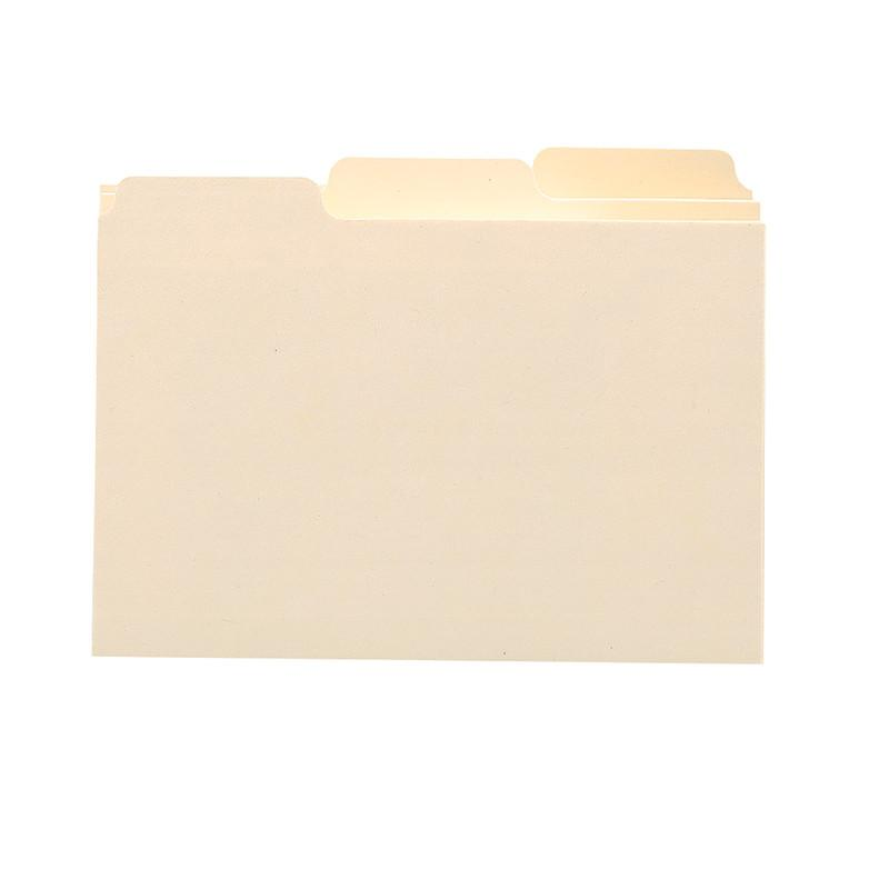 "Smead Card Guide, Plain 1/3-Cut Tab (Blank), 5""W x 3""H, Manila, 100 per Box (55030)"