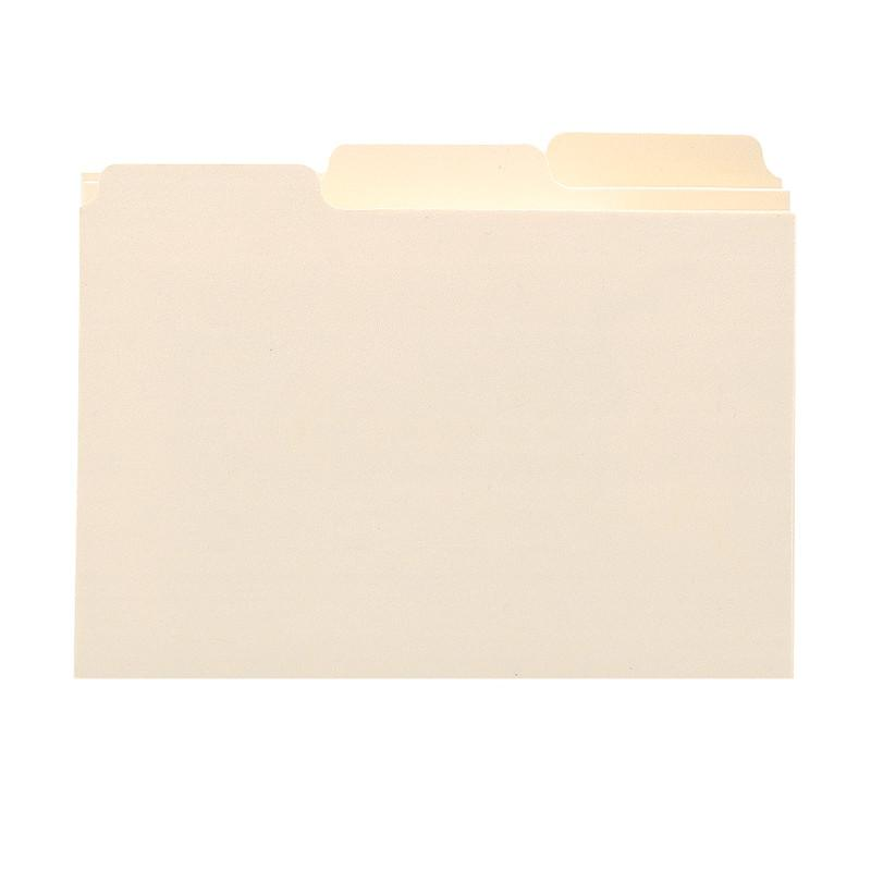 "Smead Card Guide, Plain 1/3-Cut Tab (Blank), 8""W x 5""H, Manila, 100 per Box (57030)"