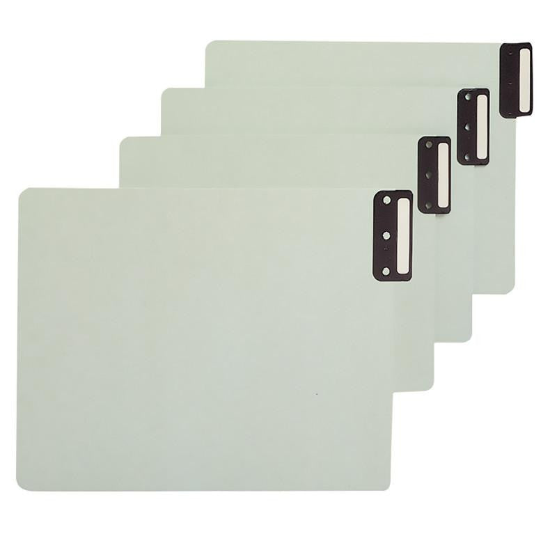 Smead End Tab 100% Recycled Pressboard Guides, Vertical Metal Tab (Blank), Extra Wide Legal Size, Gray/Green, 50 per Box (63235)