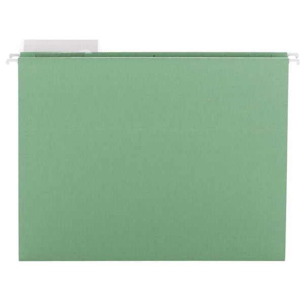 Smead Hanging File Folder with Tab, 1/3-Cut Adjustable Tab, Letter Size, Green, 25 per Box  (64022)