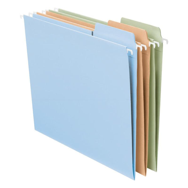 Smead FasTab® Hanging File Folder,  1/3-Cut Built-In Tab, Letter Size, Assorted Pastel Colors, 18 per Box (64054)