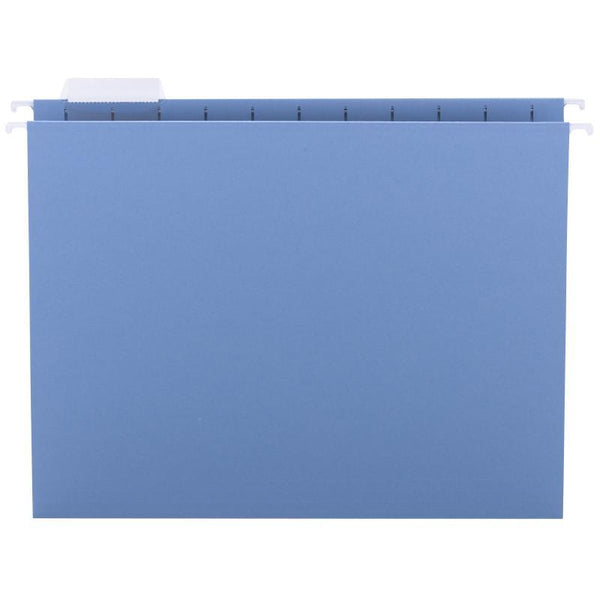 Smead Hanging File Folder with Tab, 1/5-Cut Adjustable Tab, Letter Size, Blue, 25 per Box (64060)