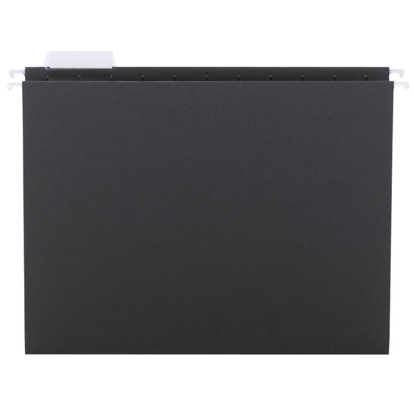 Smead Hanging File Folder with Tab, 1/5-Cut Adjustable Tab, Letter Size, Black, 25 per Box (64062)