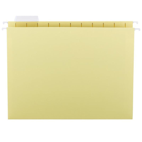 Smead Hanging File Folder with Tab, 1/5-Cut Adjustable Tab, Letter Size, Yellow, 25 per Box (64069)