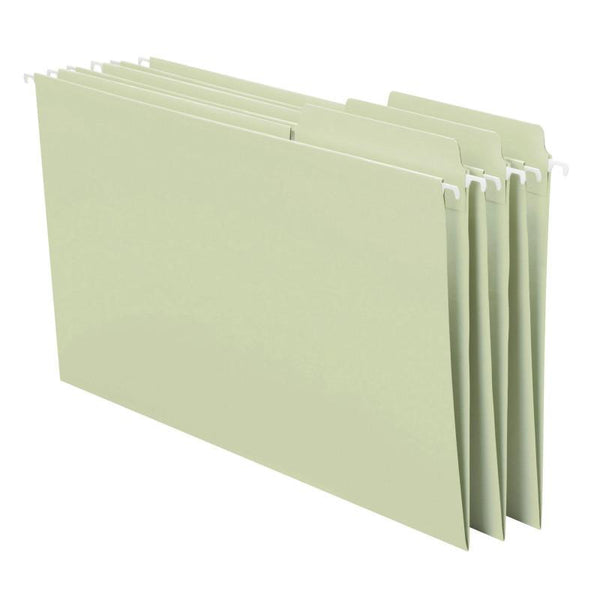 Smead FasTab® Hanging File Folder, 1/3- Cut Built-In Tab, Legal Size, Moss, 20 per Box (64083)