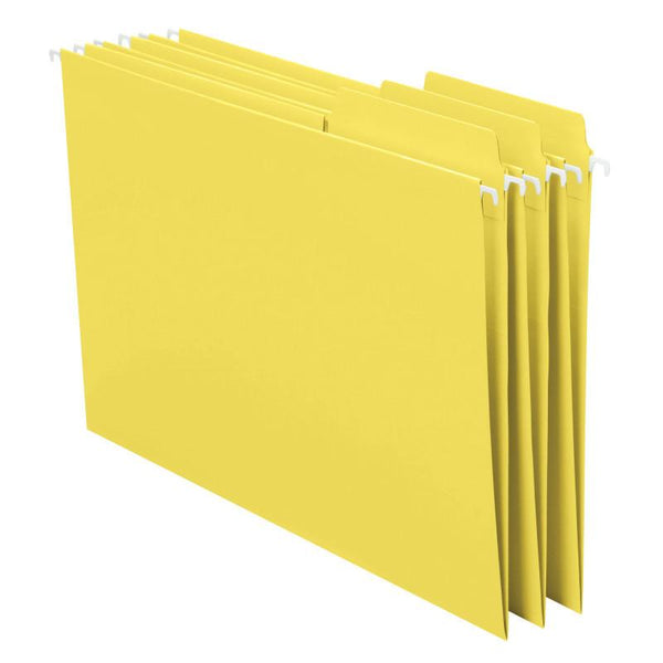 Smead FasTab® Hanging File Folder, 1/3-Cut Built-In Tab, Letter Size, Yellow, 20 per Box (64097)