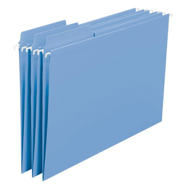 Smead FasTab® Hanging File Folder, 1/3-Cut Built-In Tab, Letter Size, Blue, 20 per Box (64099)