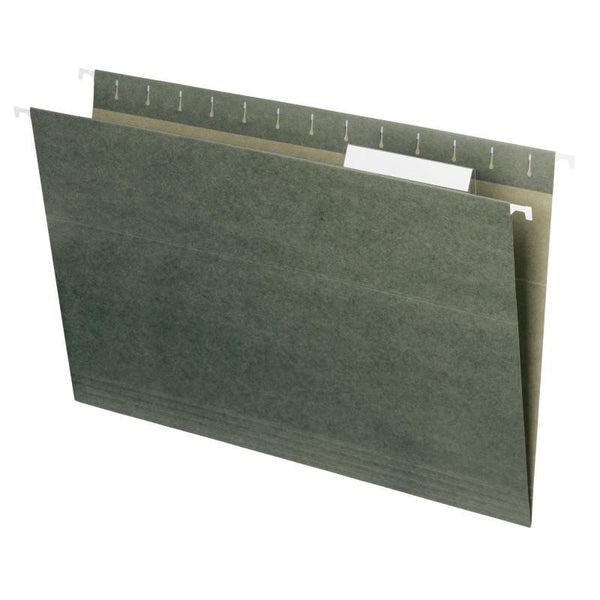 Smead Hanging File Folder with Tab,  1/3- Cut Adjustable Tab, Legal Size, Standard Green,  25 per Box (64135)