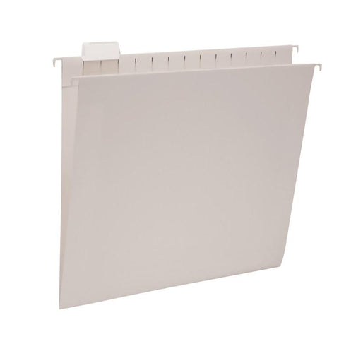 Smead Hanging File Folder with Tab, 1/5-Cut Adjustable Tab, Legal Size, Gray, 25 per Box (64163)