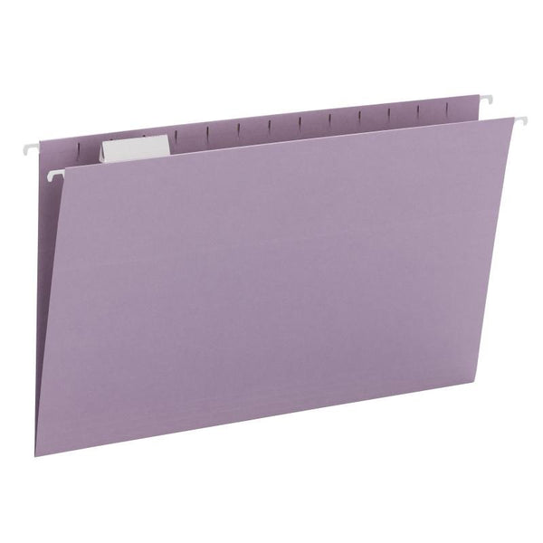 Smead Hanging File Folder with Tab, 1/5-Cut Adjustable Tab, Legal Size, Lavender, 25 per Box (64164)