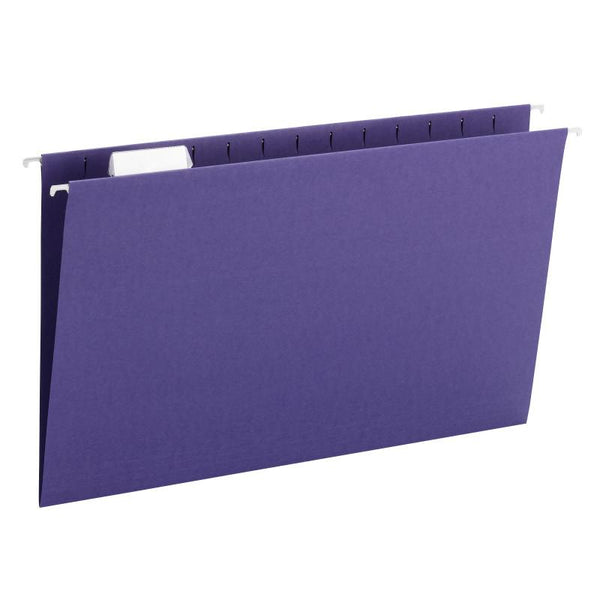 Smead Hanging File Folder with Tab, 1/5-Cut Adjustable Tab, Legal Size, Purple, 25 per Box (64172)