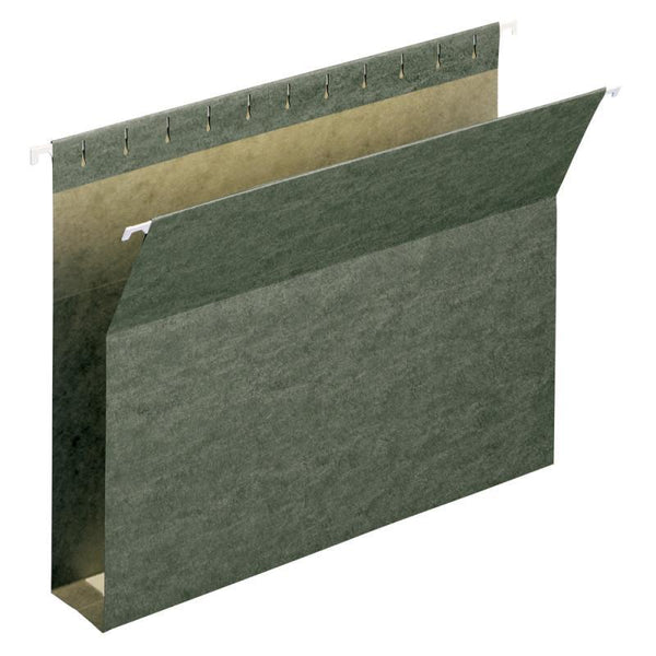 "Smead Box Bottom Hanging File Folders, 2"" Expansion, Letter Size, Standard Green, 25 per Box (64259)"