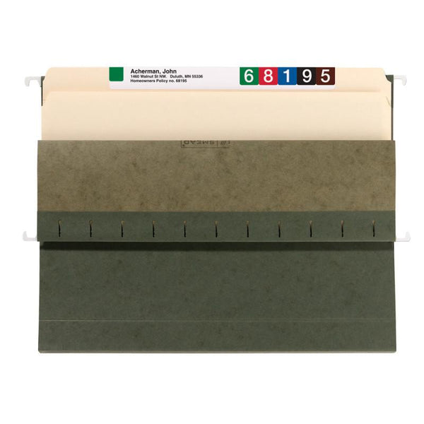 Smead Hanging Box Bottom File Folder, Assorted Expansions, Letter Size, Standard Green, 25 per Box (64260)