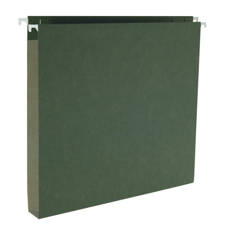 "Smead Hanging Box Bottom File Folder, 1"" Expansion, Legal Size, Standard Green,  25 per Box (64339)"