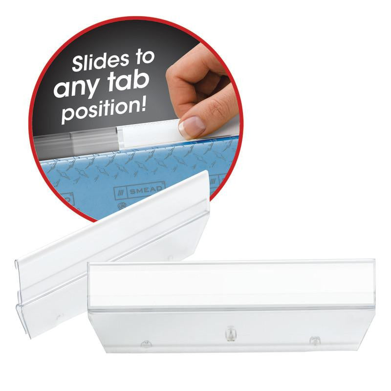 Smead Easy Slide™ Tab, 1/3-Cut, Clear, 18 Per Pack (64626)
