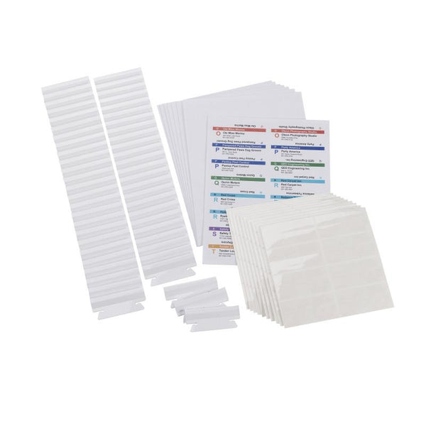Viewables® Premium 3D Hanging Folder Tabs & Labels -100 Pack (64910)