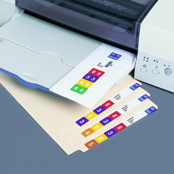 Smead Smartstrip End Tab Labels for Laser Printer, 250 labels per pack (66004)