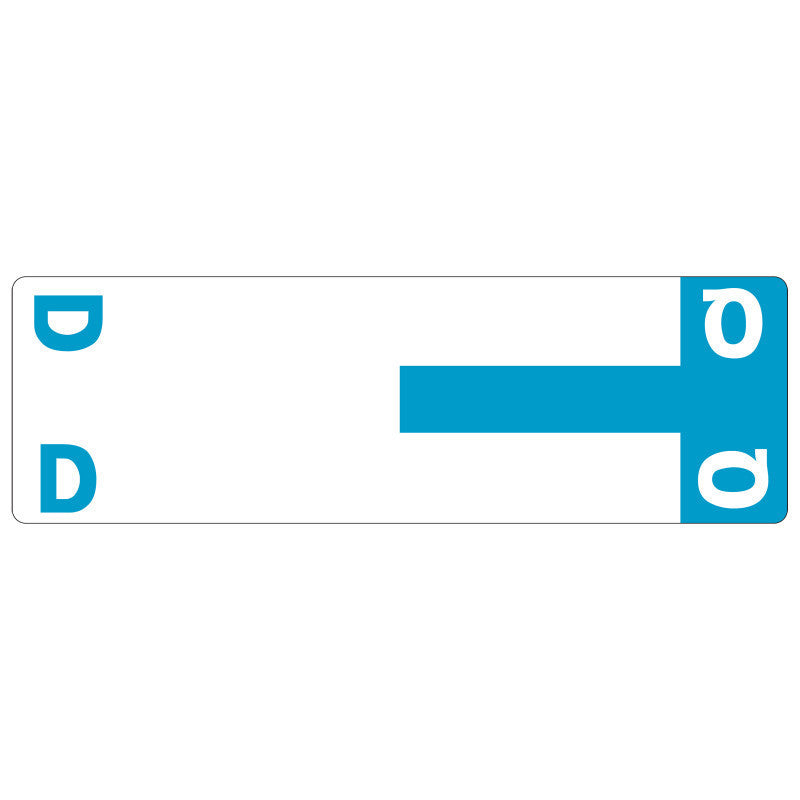 Smead AlphaZ® NCC Color-Coded Label, D&Q, Label Sheet, Light Blue, 100 per Pack (67155)