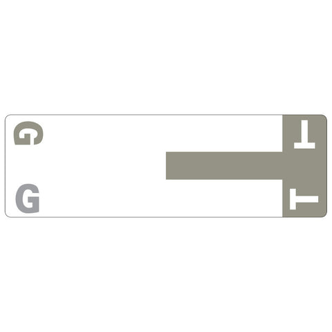 Smead AlphaZ® NCC Color-Coded Label, G&T, Label Sheet, Gray, 100 per Pack (67158)
