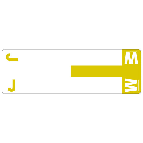 Smead AlphaZ® NCC Color-Coded Label, J&W, Label Sheet, Yellow, 100 per Pack (67161)