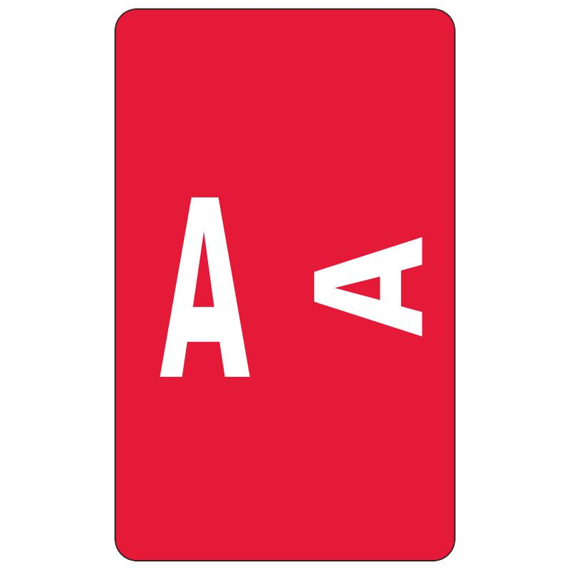 Smead AlphaZ ACCS Color-Coded Alphabetic Label, A, Label Sheet, Red, 100 labels per Pack (67171)
