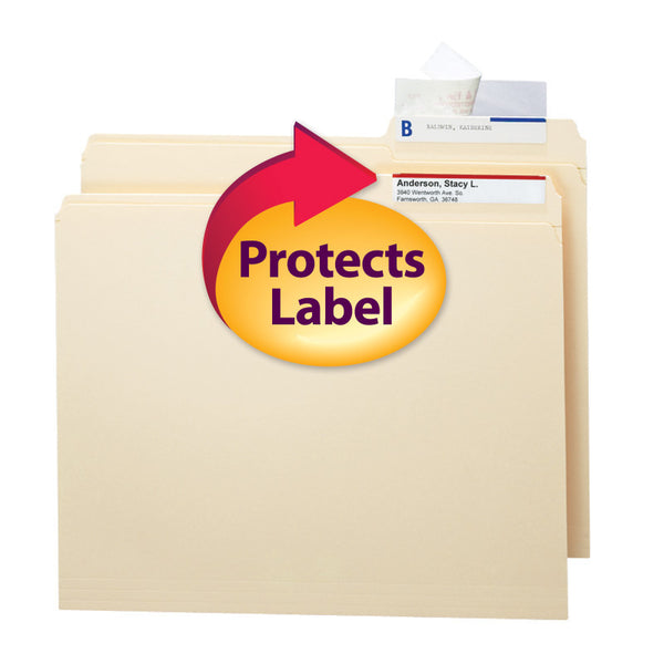 Smead Seal and View® Clear Label Protector, Size 3-1/2x1-11/16-Inches before folding, 100 per Pack (67600)