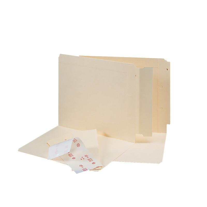 "Smead Folder End Tab Converter, Reinforced 8"" High Tab, Letter/Legal, Manila, 500 per Box (68080)"