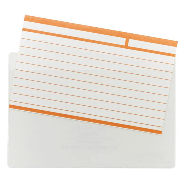 "Smead Self-Adhesive Poly Pocket, Index Card Size (5-5/16"" W x 3-5/8"" H), Clear 100 Per Box (68153)"