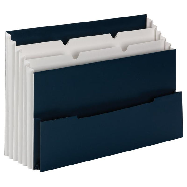 Smead Mini Stadium® File , 3 Pockets, Small Front Pocket, Letter Size, Navy (70231)