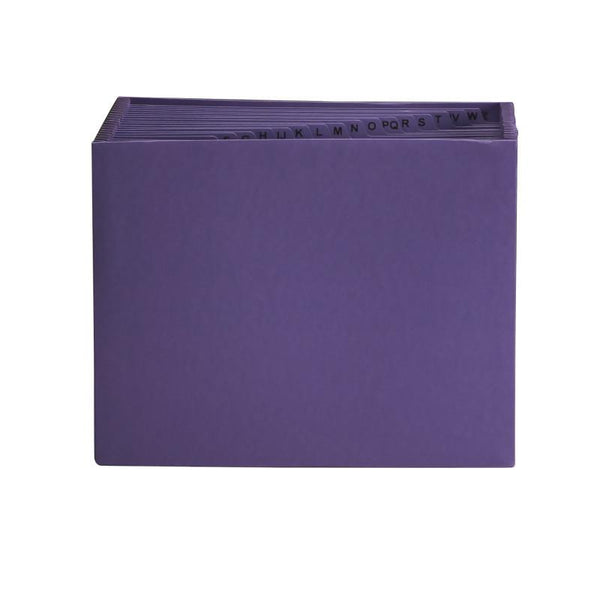 Smead Expanding File, Alphabetic (A-Z), 21 Pockets, Letter Size, Purple (70721)