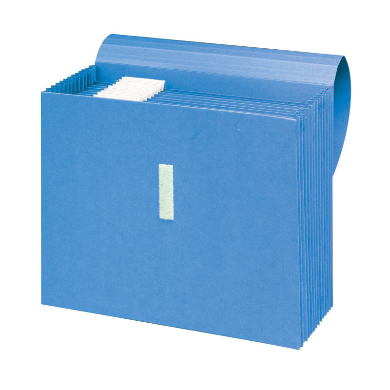 Smead Expanding File with Antimicrobial Product Protection, 1/5-Cut Adjustable Tabs, 12 Pockets, Blue (70728)
