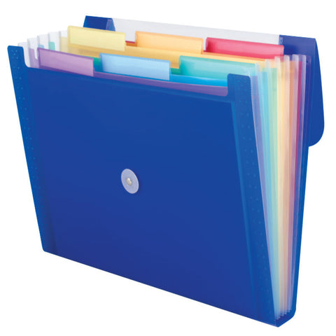 Carton of 12 Smead Step Index Organizers, 6 Pockets, Flap and Cord Closure, Letter Size, Assorted Colors (70900)