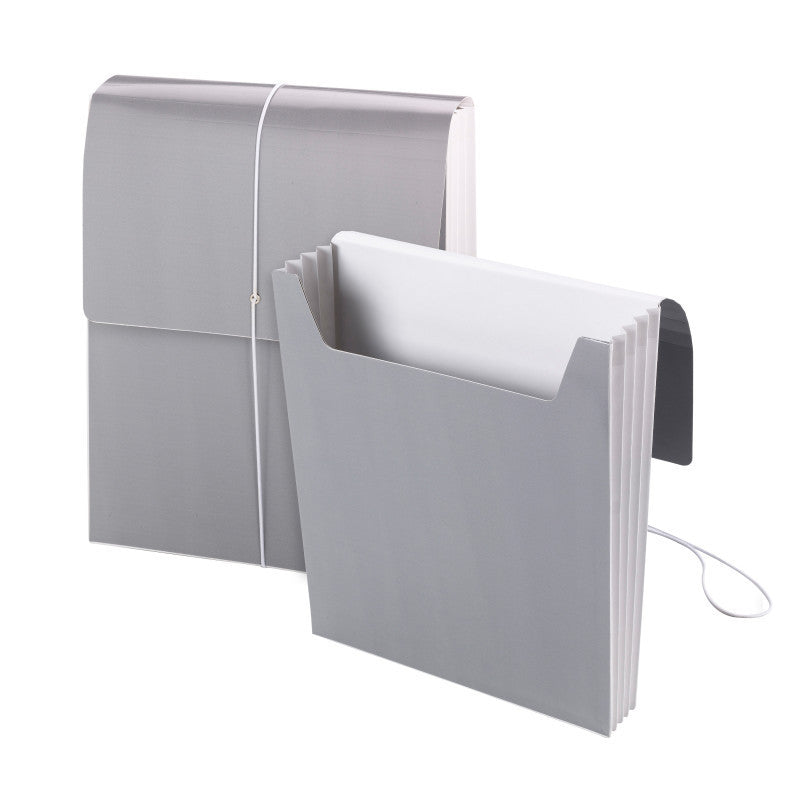 "Smead Organized Up® Vertical Wallet, 3-1/2"" Expansion, Cool Gray, 5 per Box (71101)"