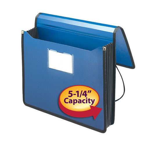 "Smead Poly Premium Wallet, 5-1/4"" Expansion, Letter Size, Navy Blue (71503)"