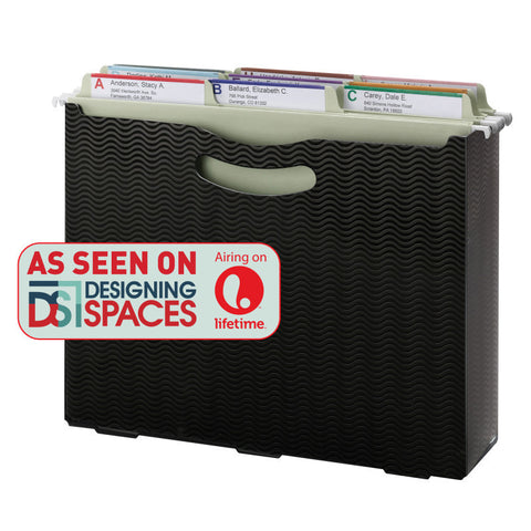 "Smead File Box, 3"" Expansion, Letter Size, Black (71631)"