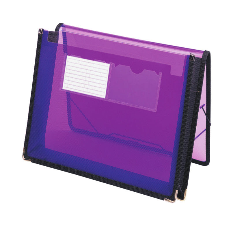 "Smead Poly Wallet, 2-1/4"" Expansion, Flap and Cord Closure, Letter Size, Purple (71952)"